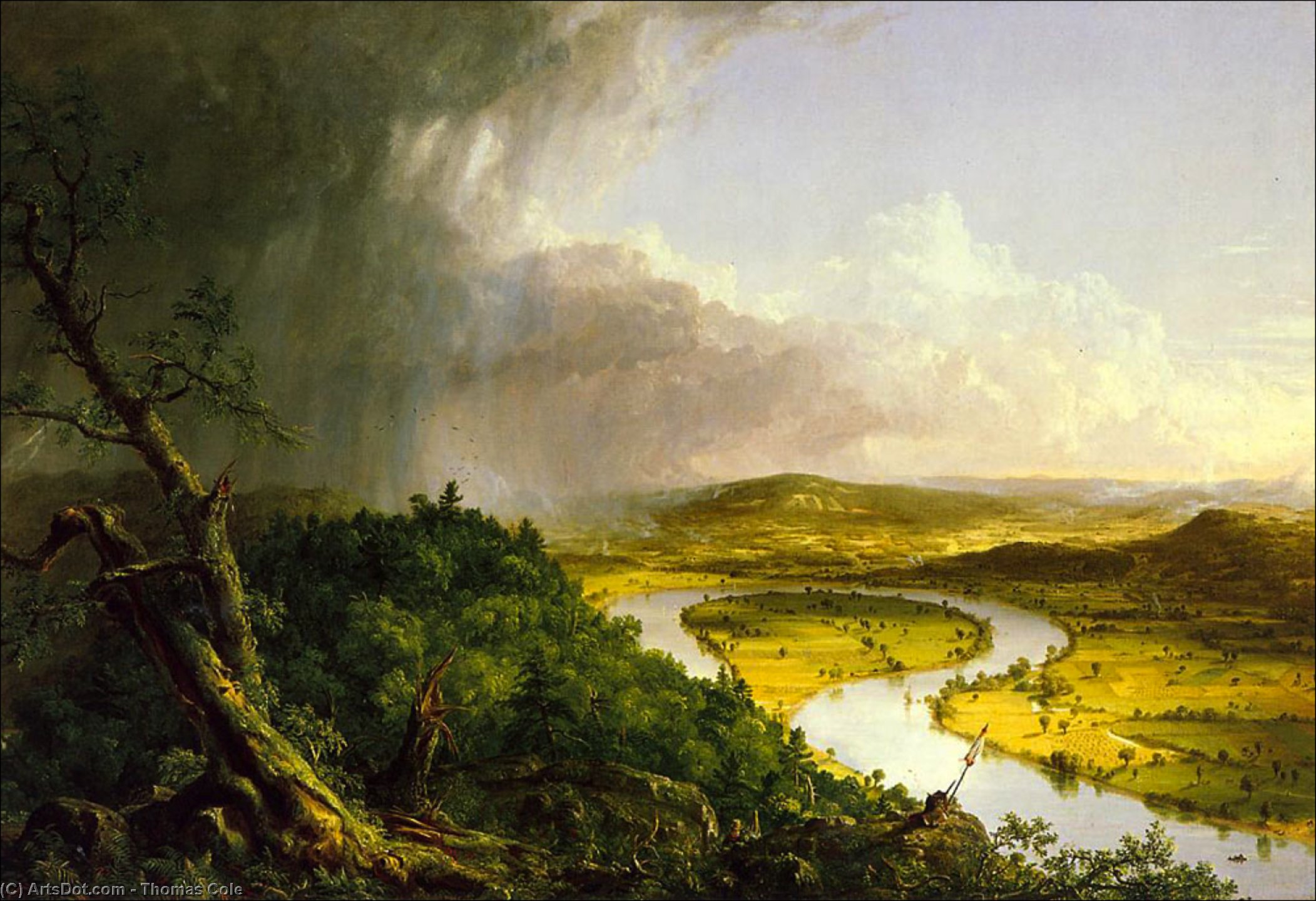Die Oxbow, öl von Thomas Cole (1801-1848, United Kingdom)