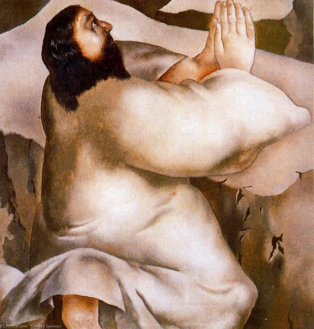 christus in der wildnis . Er ging in ein berg beten von Stanley Spencer (1891-1959, United Kingdom) | ArtsDot.com
