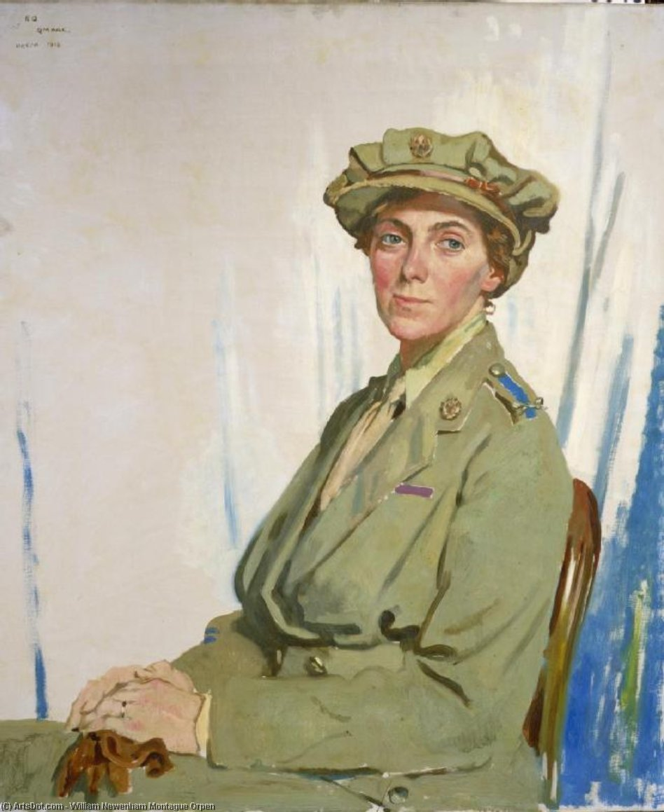 Freifrau Helen Gwynne-Vaughan von William Newenham Montague Orpen (1878-1931, Ireland)