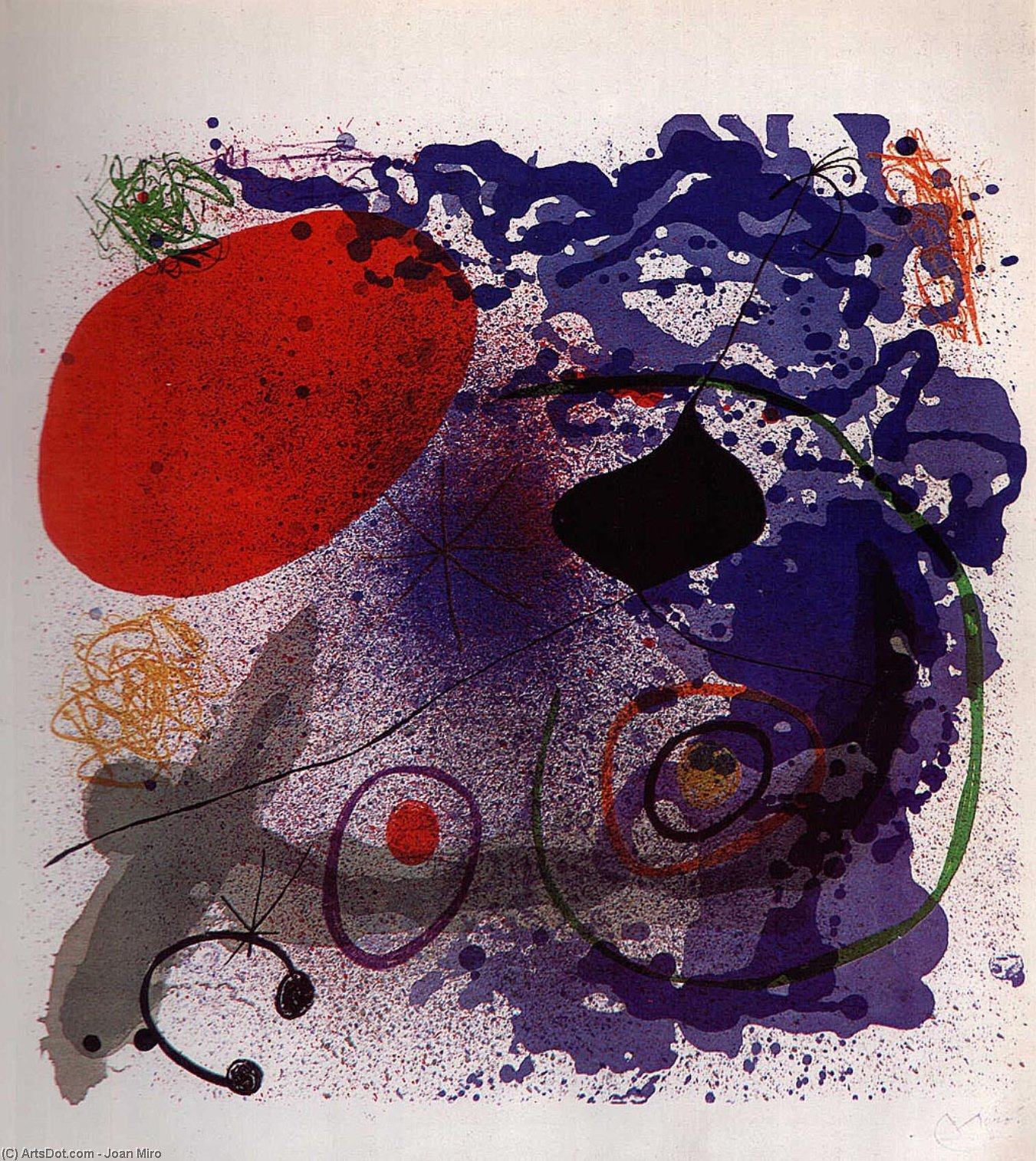 Batement ICH ICH, 1968 von Joan Miro (1893-1937, Spain)