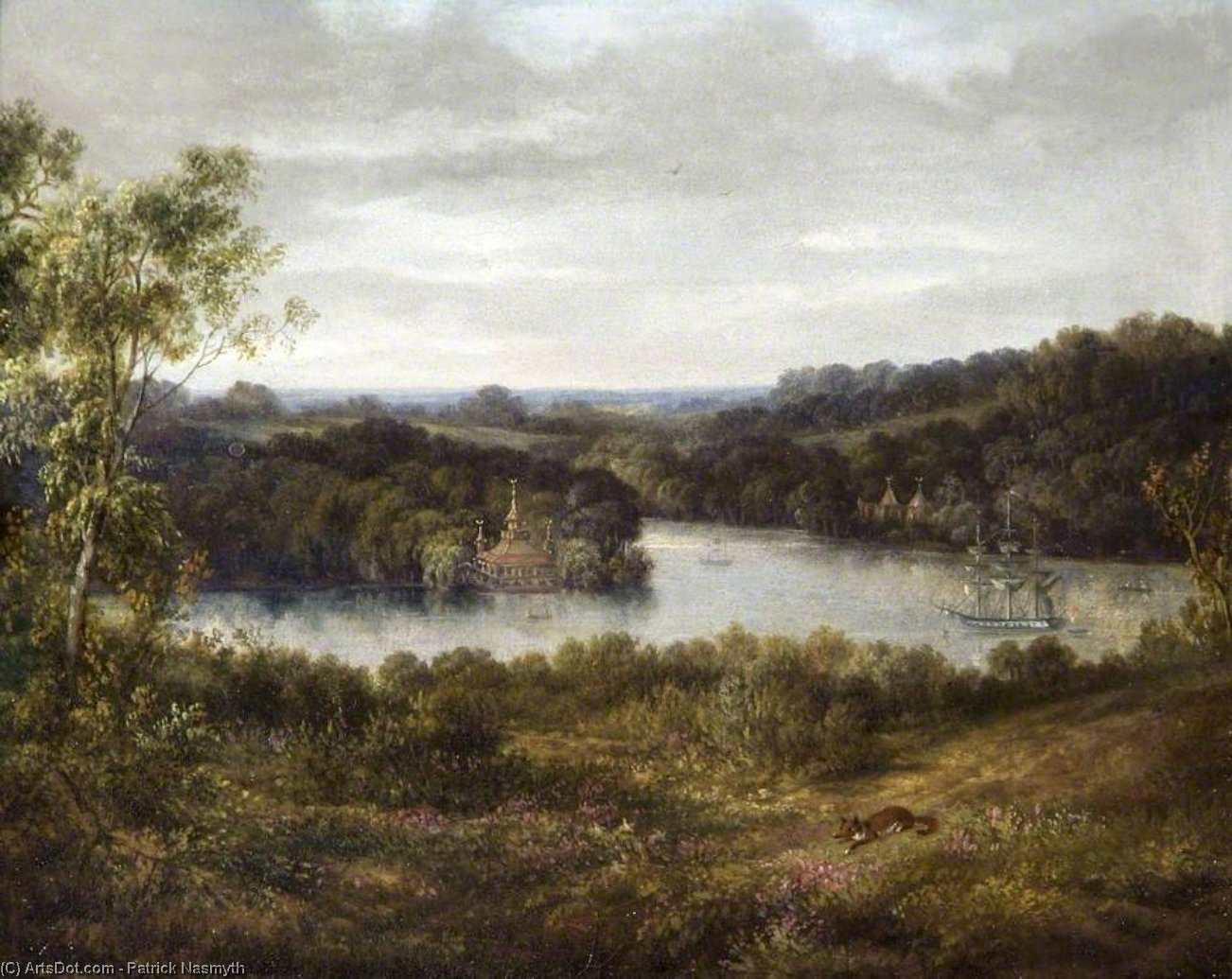 virginia wasser , Surrey von Patrick Nasmyth (1787-1831, United Kingdom)