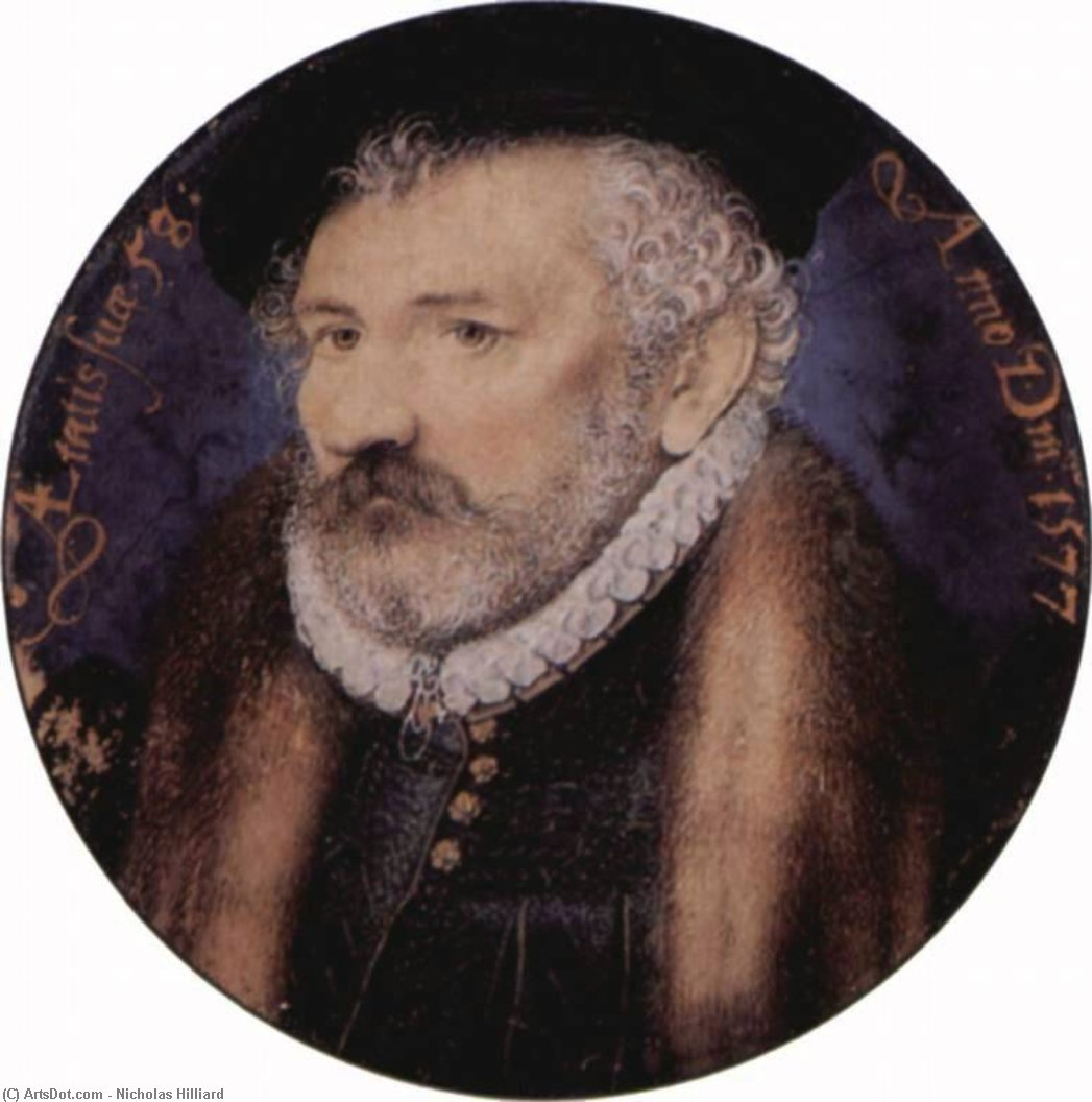 richard hilliard, öl von Nicholas Hilliard (1577-1619, United Kingdom)