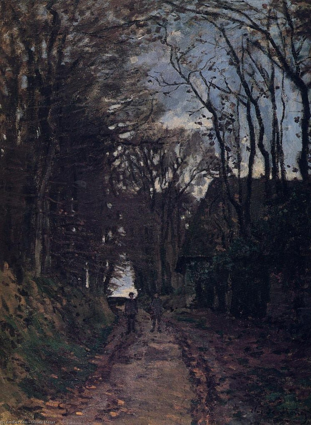 Lane in der Normandie, 1868 von Claude Monet (1840-1926, France) | Museum Kunstreproduktionen Claude Monet | ArtsDot.com