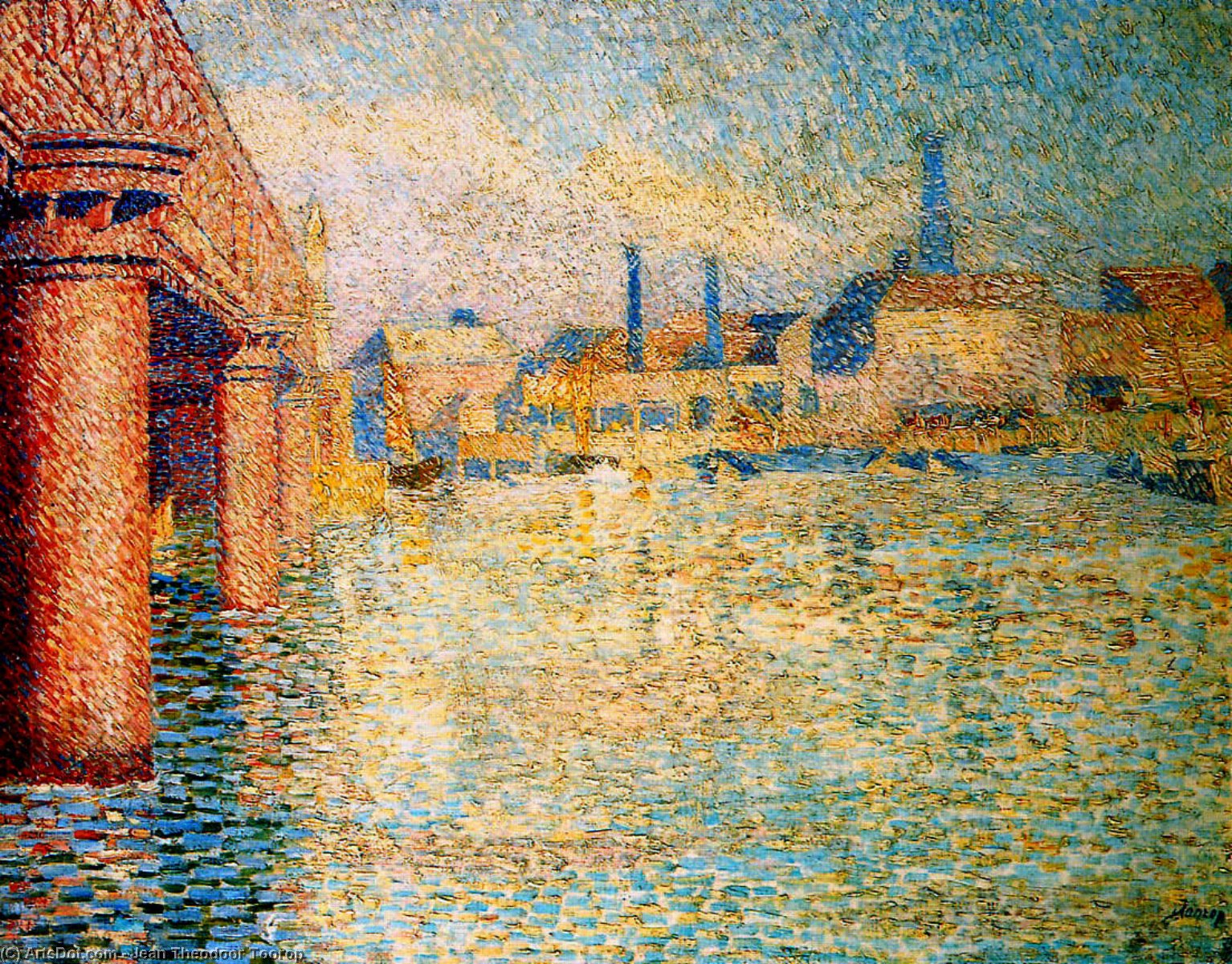 brücke in london von Jean Theodoor Toorop (1858-1928, Indonesia)
