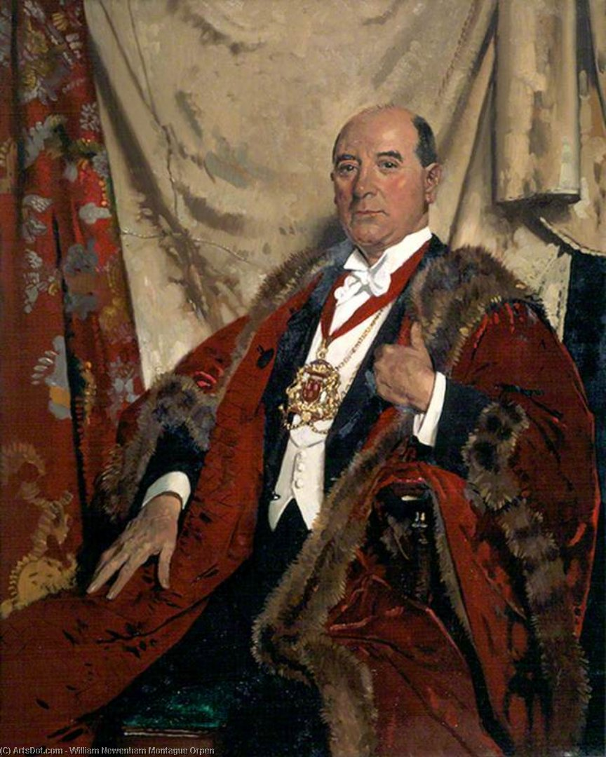 sir andrew lewis , Lld , lord provost von aberdeen von William Newenham Montague Orpen (1878-1931, Ireland)