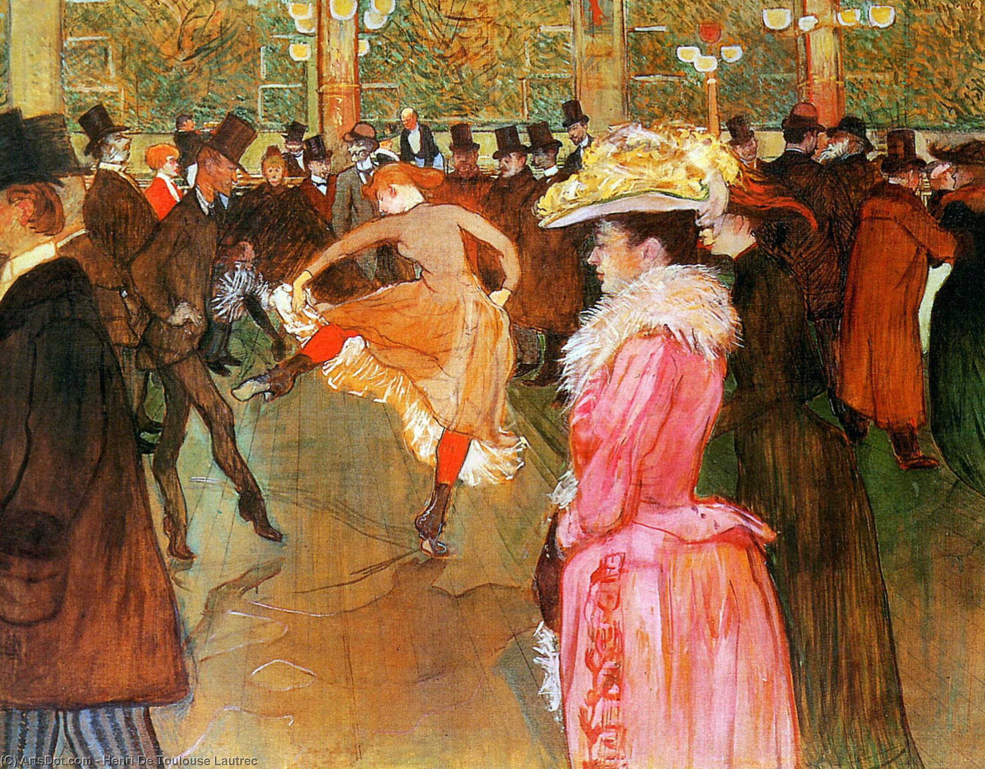 Tanz in das moulin rouge Sonne von Henri De Toulouse Lautrec (1864-1901, France)