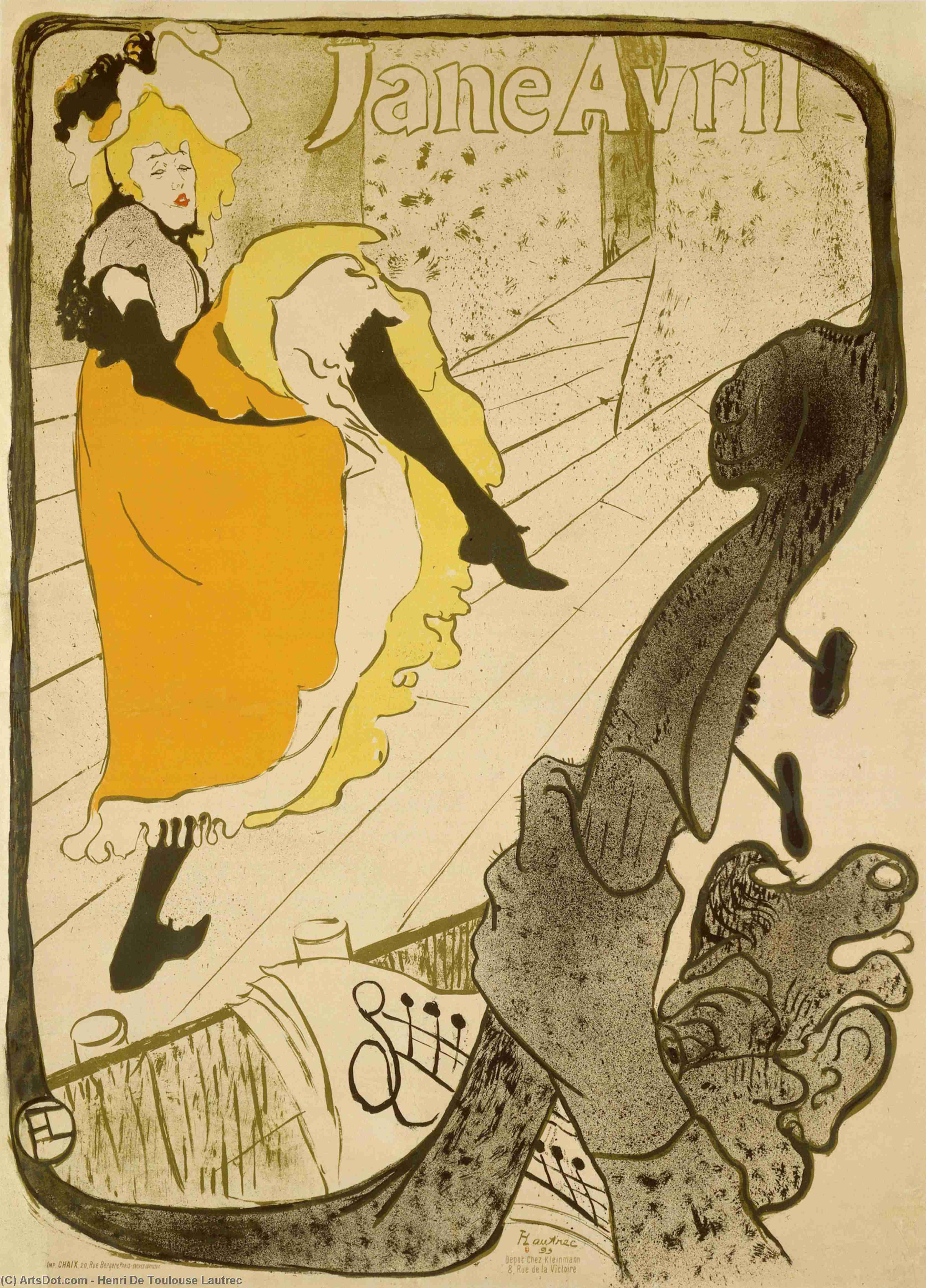 jane avril au jardin von Paris untergebracht von Henri De Toulouse Lautrec (1864-1901, Second French Empire)