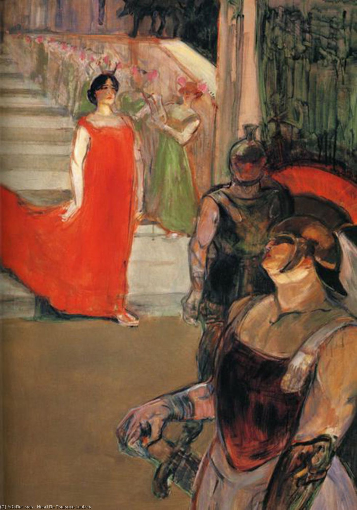 Die Opera Messalina in Bordeaux, öl von Henri De Toulouse Lautrec (1864-1901, France)