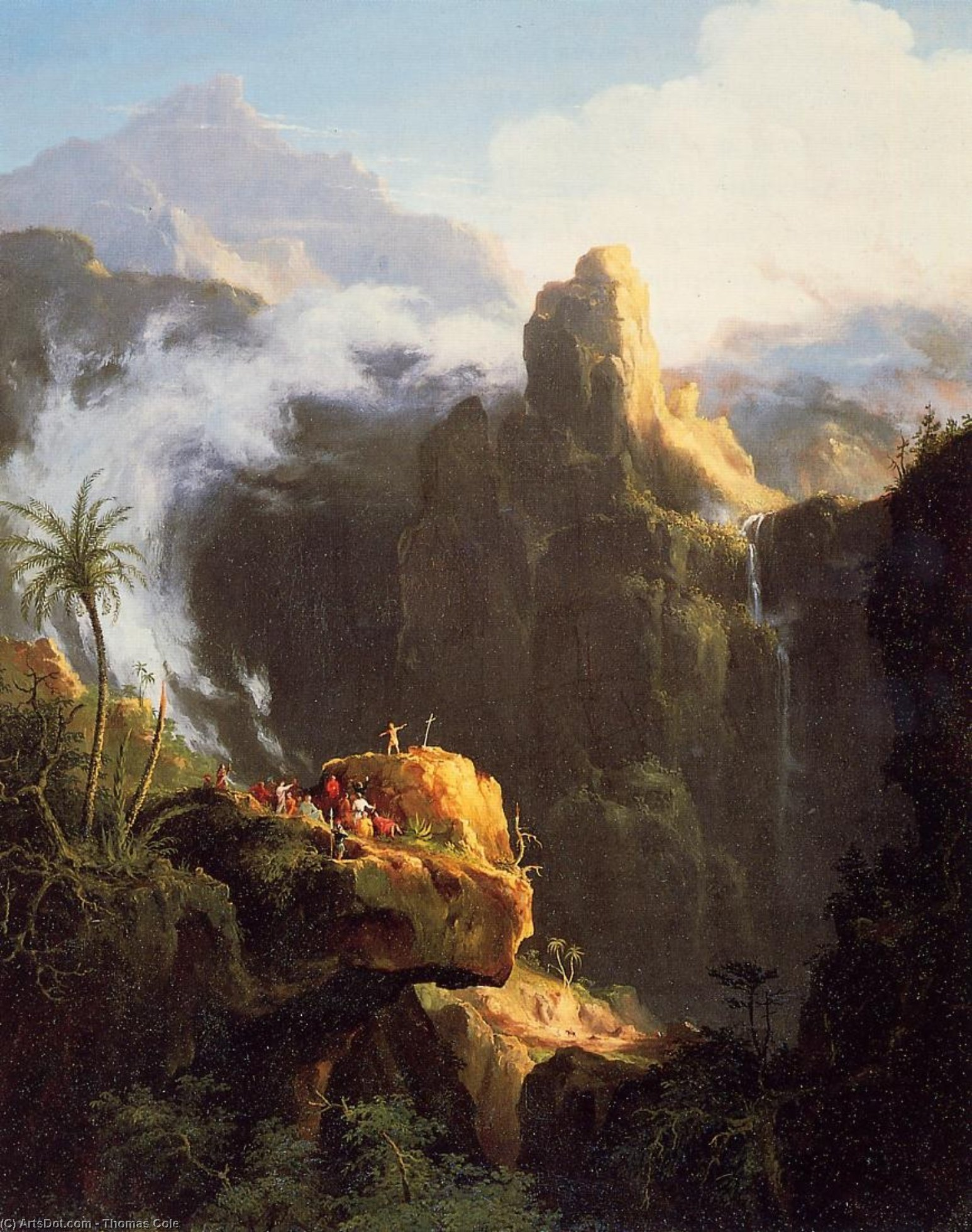 landschaft komposition Heilige  Klo  an  der  wildnis , öl von Thomas Cole (1801-1848, United Kingdom)