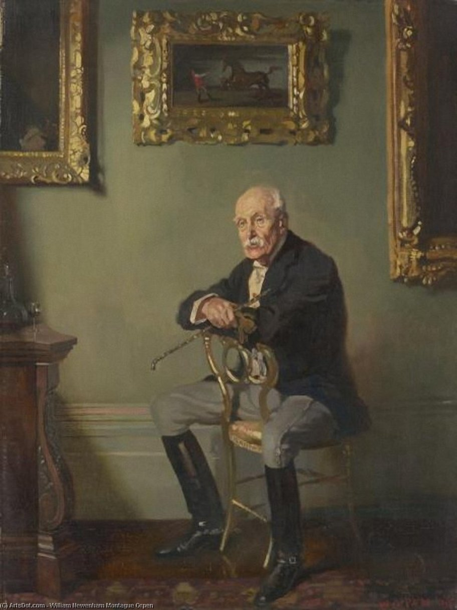 Gentleman in Reitkostüm, 1904 von William Newenham Montague Orpen (1878-1931, Ireland) | Museum Kunstreproduktionen | ArtsDot.com