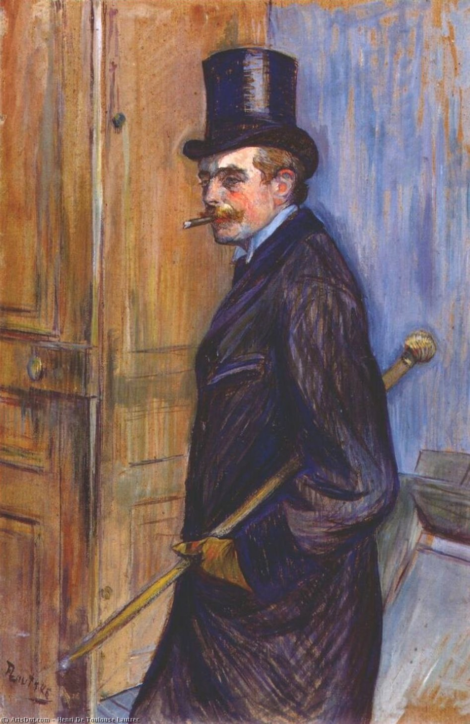 monsieur louis pascal, öl von Henri De Toulouse Lautrec (1864-1901, Second French Empire)