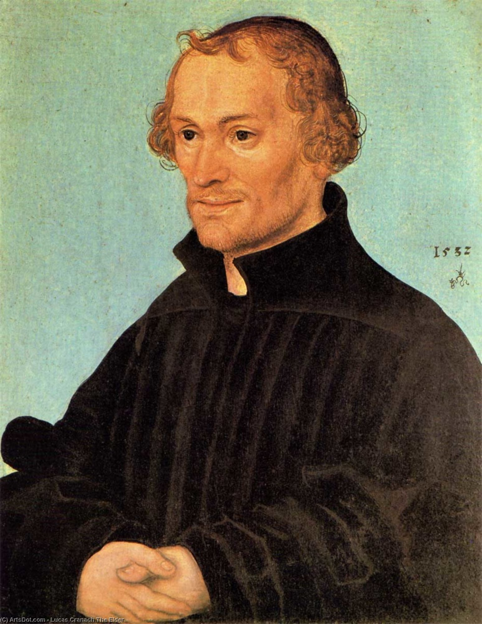 philipp melanchthon, 1532 von Lucas Cranach The Elder (1472-1553, Germany)