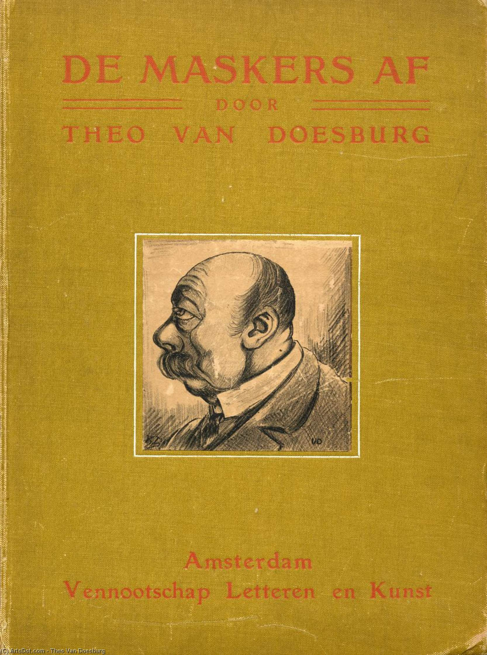 Cover von ''The masks'', 1910 von Theo Van Doesburg (1883-1931, Netherlands)