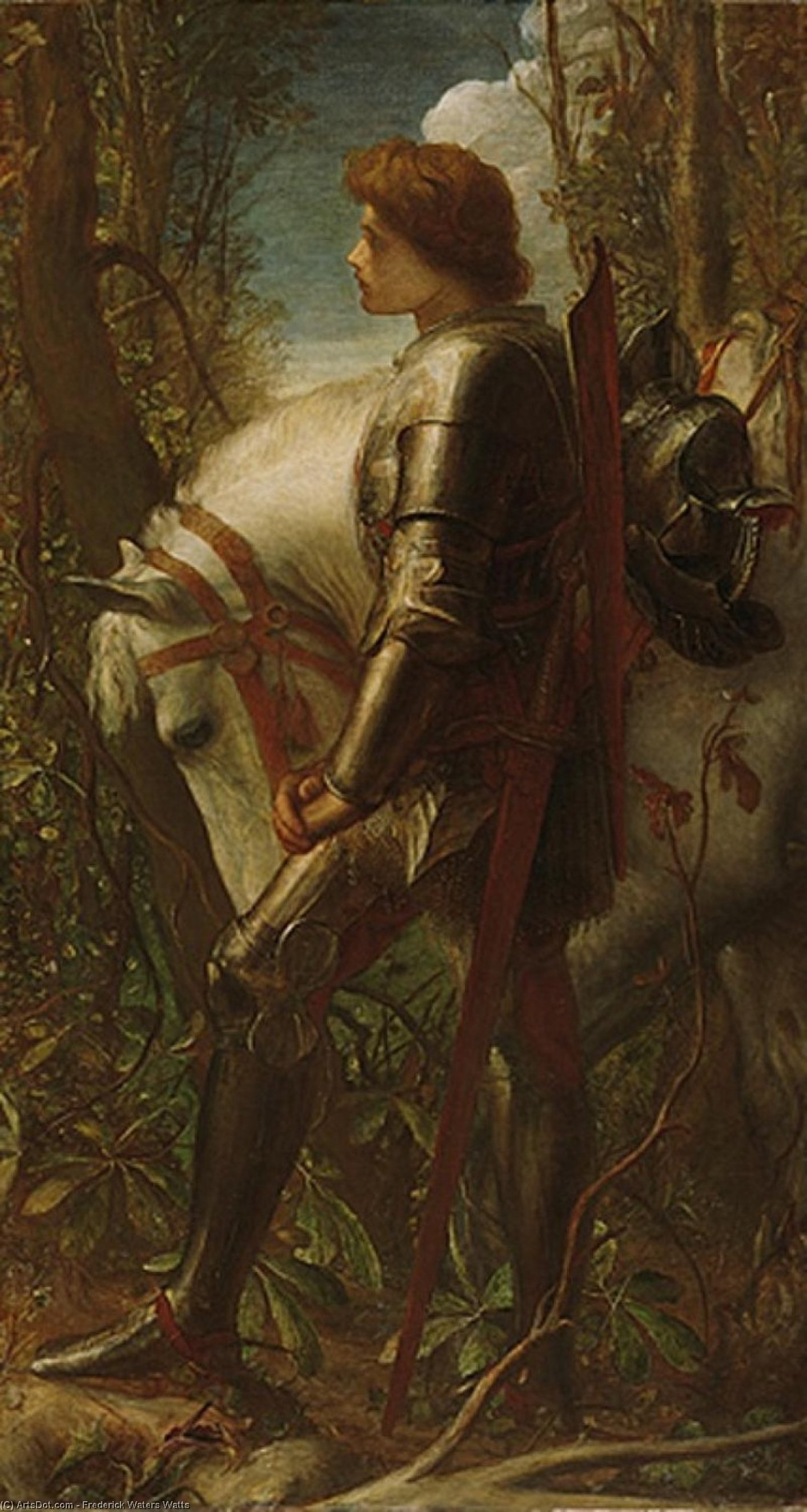 sir galahad, 1862 von Frederick Waters Watts (1800-1870, United Kingdom)
