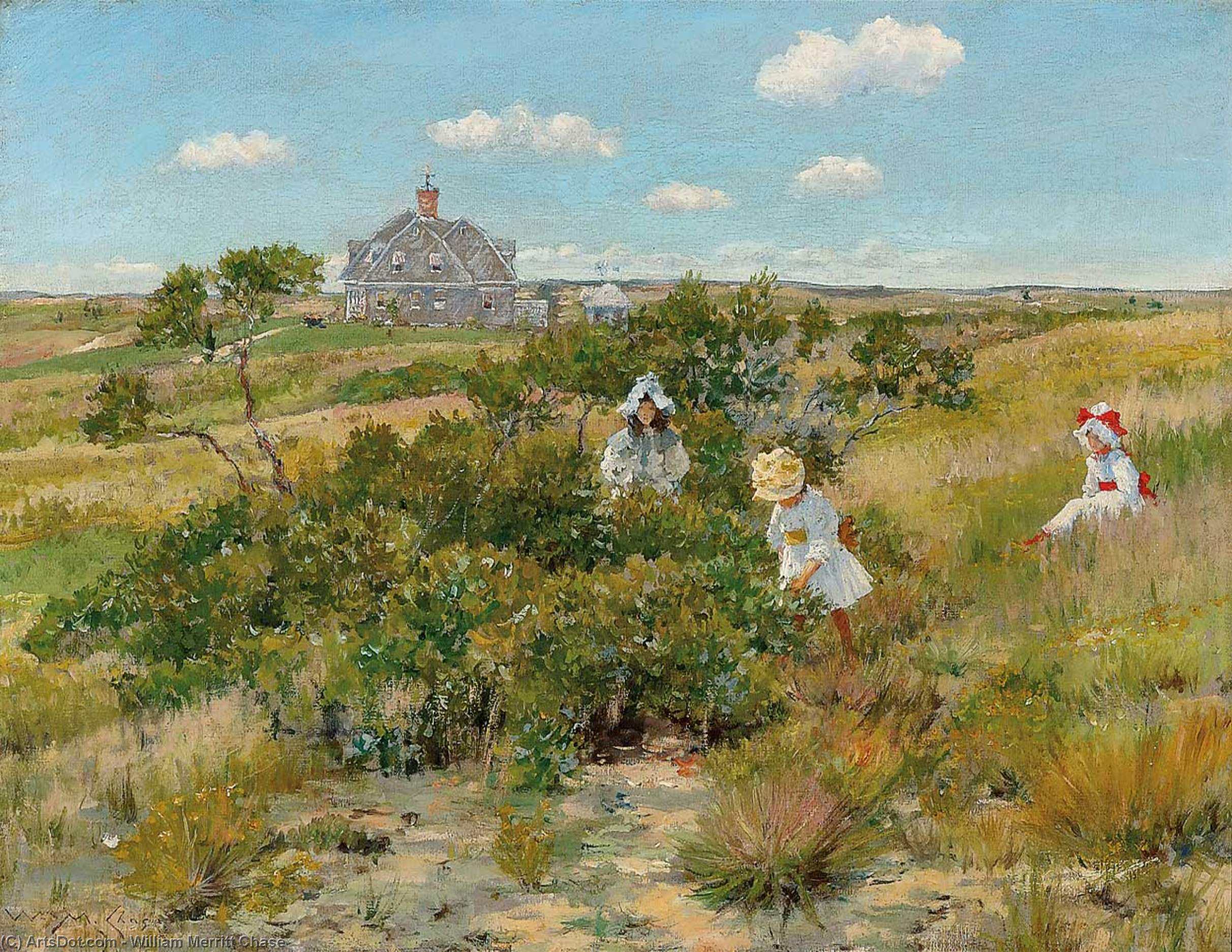 a sommer tag, pastell von William Merritt Chase (1849-1916, United States)
