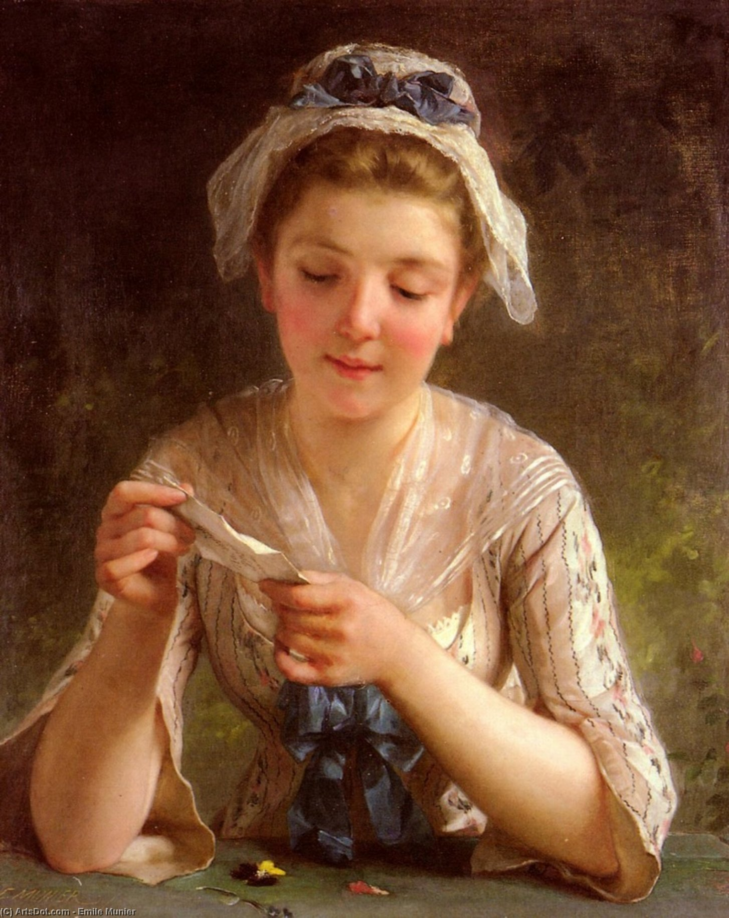 der brief von Emile Munier (1840-1895, France)
