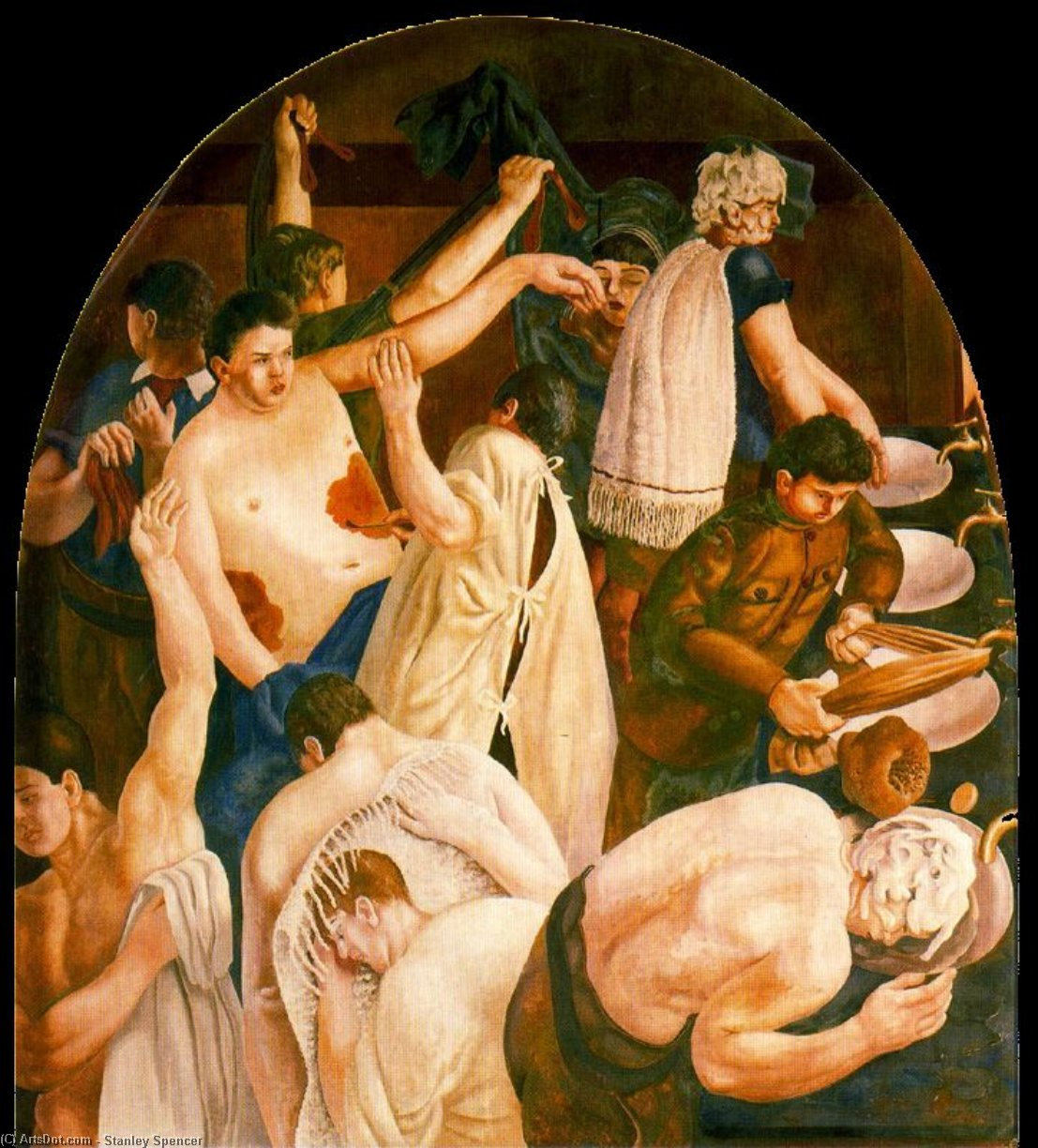 Waschungen von Stanley Spencer (1891-1959, United Kingdom) | ArtsDot.com
