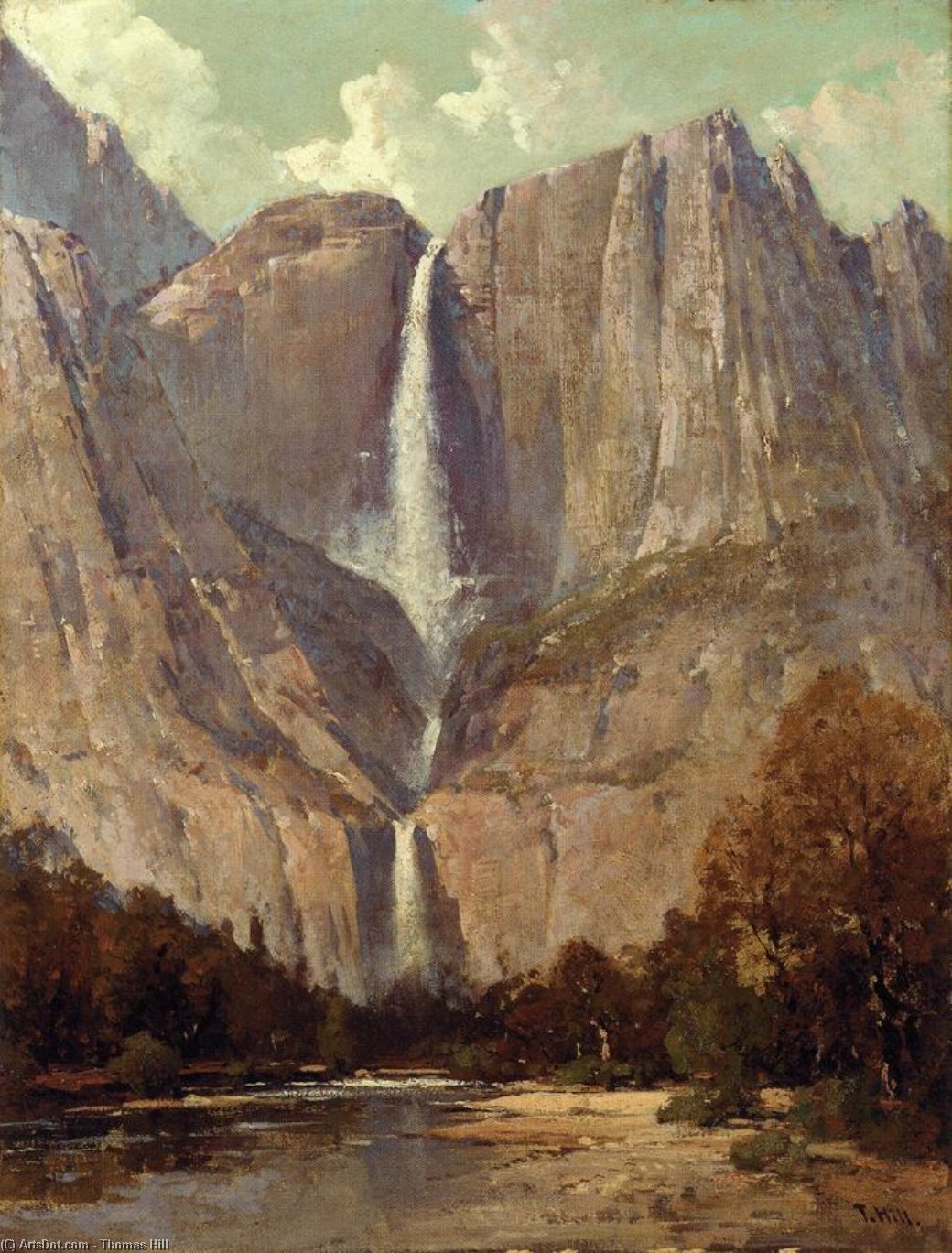 Zaum Schleier Herbst , Yosemite von Thomas Hill (1829-1908, United Kingdom)