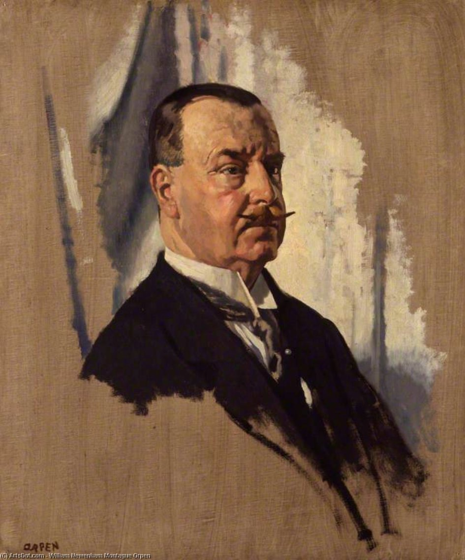 sir joseph george Station von William Newenham Montague Orpen (1878-1931, Ireland)