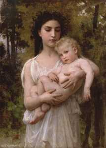 William Adolphe Bouguereau - Der jüngere Bruder 1900