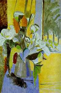 Henri Matisse - Bouquet of Flowers auf der Veranda