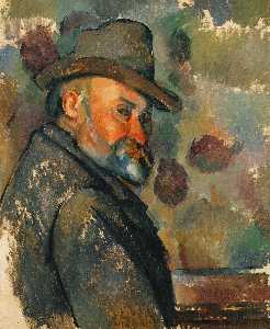 Paul Cezanne - Self-Portrait mit weichem..