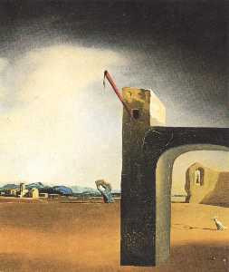 Salvador Dali - 'Morphological Echo' , zi..