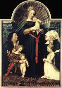 Hans Holbein The Younger - darmstädter madonna