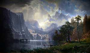 Albert Bierstadt - Unter der Sierra Nevada Mountains Kalifornien