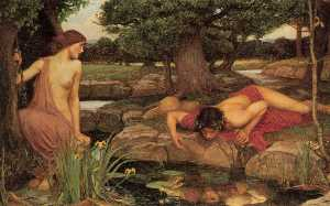 John William Waterhouse - Echo und Narcissus
