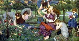 John William Waterhouse - Flora und die Zephyrs