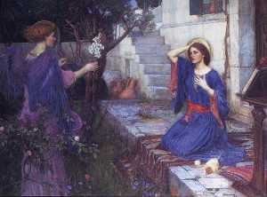 John William Waterhouse - die verkündigung
