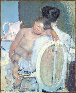 Mary Stevenson Cassatt - mutter halten a kind in ihr arme