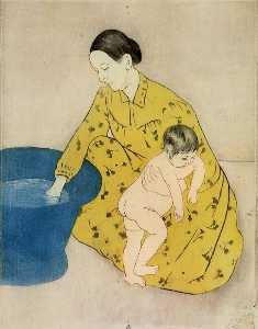 Mary Stevenson Cassatt - Das Bad des Kindes 2