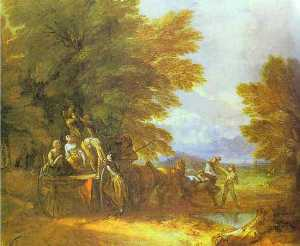 Thomas Gainsborough - Der Ernte-Lastwagen