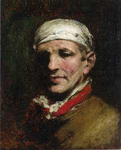William Merritt Chase - Mann mit Bandana