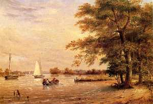 Thomas Birch - auf der shrewsbury-fluss , Red..
