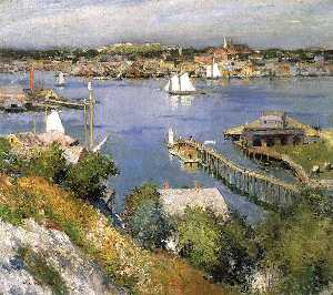 Willard Leroy Metcalf - Gloucester Hafen