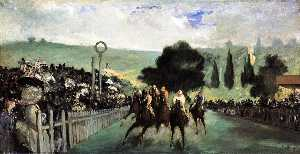 Edouard Manet - Rennen in Longchamp