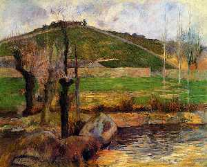 Paul Gauguin - Fluss Aven unter dem Berg Sainte-Marguerite