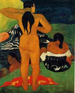 Paul Gauguin - Tahitian Frauen Bade