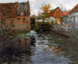 Frits Thaulow - der mühle see