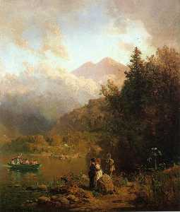 Thomas Hill - angeln party in der berge