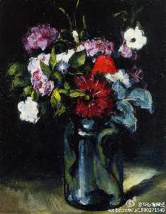 Paul Cezanne - blumen in a vase