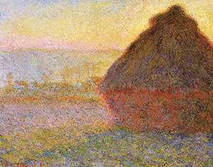 Claude Monet - Grain at Sunset