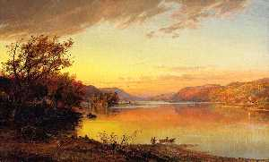 Jasper Francis Cropsey - Greenwood See , new jerse..