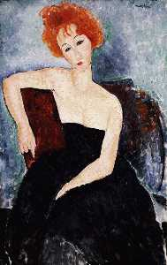 Amedeo Modigliani - Red-headed Girl abendgarderobe