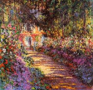 Claude Monet - Pfad in Monet-s Garden bei Giverny