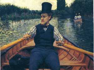 Gustave Caillebotte - Rower in einem Top Hat