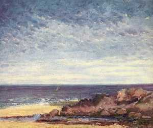 Gustave Courbet - Meerküste in der Normandie